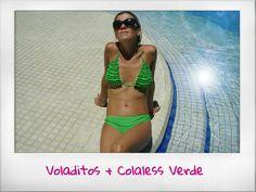 Bikini Voladitos + Colaless Verde