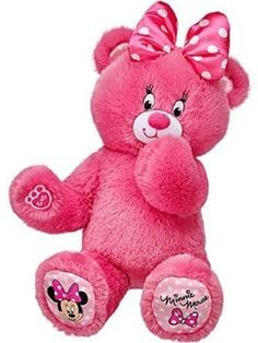 cec42eb3311 Build a Bear Workshop Pink Minnie Mouse Teddy 16 in. Stuffed Plush Toy  Animal by