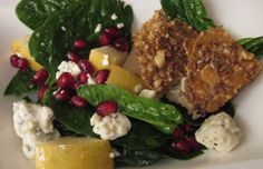 Spinach Salad with Flax Seed Crunchies   Spa Cuisine Recipes