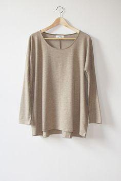 Barbara Sand Cotton Tunic   Modern Bohemian Raglan Sleeve Sweatshirt Tunic Top - Velvet Moon   a modern bohemian boutique