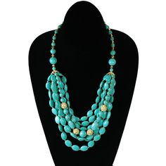 Turq Multi Layer Necklace