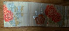 Bidding price: US $14.95 Approximately HKD 116.14 vintage silk  obi sash with floral design  size: 132'' long by 13'' wide