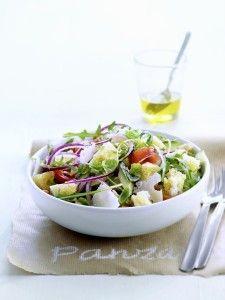 Lekkere lunch | panzanella van zuurdesem via Delicious.nl