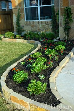 Beautiful Raised Flower Bed Stone Border (37)