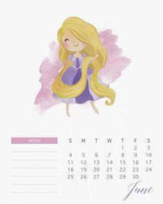 Rapunzel (Enrolados) - Junho <3. Calendário das Princesas Disney.