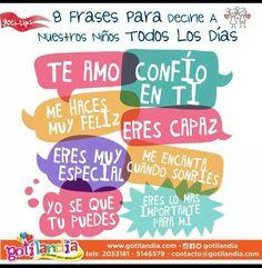 Frases motivacionales para niños, niñas y adolescentes. #childrensspaces #tupuedes #niños #niñas #teens #espaciosparaniños #motivacion #tipsdecrianza #bienestar
