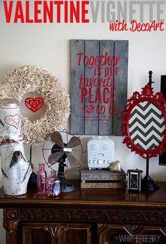 Valentine Vignette with DecoArt // Giveaway