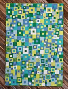My new pattern- Seeing Squares! Blogged: emptybobbinsewing.com/2011/03/03/introducing-the-seeing-s...   Quilting by Angela Walters.