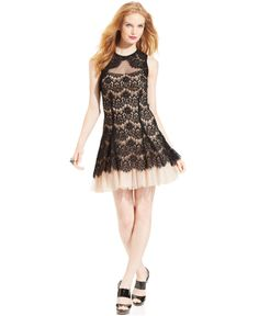 Betsy and adam black cocktail dress