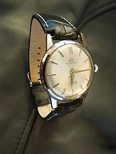 7de285364a27 Beautiful classic looks Vintage 1960 s 17 Jewel Swiss made bucherer watch  at IronCrowVintage