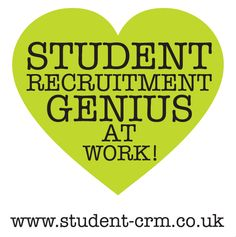 Become a student recruitment genius.