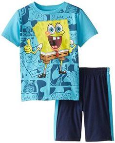 3f2246f1f Nickelodeon Little Boys' 2 Piece Spongebob Screenprint Jersey Short Set  #stylespectrum Short Set,