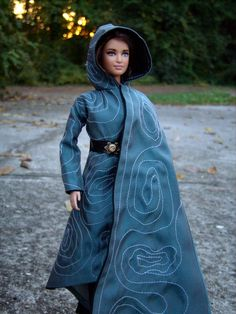 """Katniss Everdeen Repaint Barbie Doll in Disguise Cloak from """"The Hunger Games: Mockingjay Part 2"""" - by Morgan May @ Stardust Dolls - http://www.stardustdolls.com"""