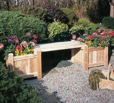 Rustic Natural Cedar Planter Box - Outdoor  Patio Log Furniture