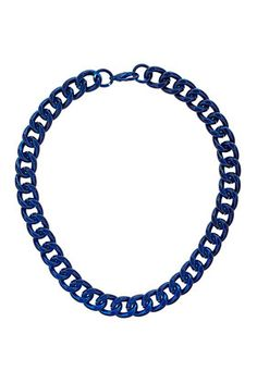 Metallic Curb Chain Collar