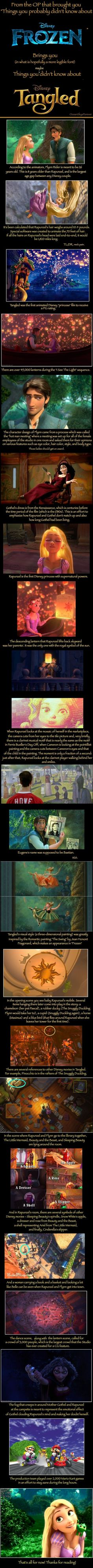 Things maybe you didn't know about Tangled