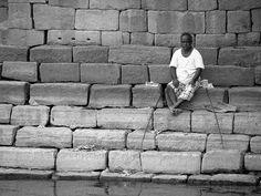 Man at the Ghats : Badami, via Flickr.