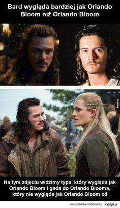when I first saw bard I was like oh Orlando Bloom must want to be in the Hobbit even though legolas isn't in the Book. *legolas shows up* WHAT? Legolas, Thranduil, Gandalf, Into The West, Into The Fire, Narnia, Tolkien, O Hobbit, Hobbit Films