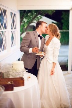 Cool Bridal Cover ups - The Chic White Blazer... It may be summer but when the evening cools you're going to want to cover up in style. Check out these real brides who did it in their own unique way!