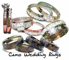 Camo wedding rings!