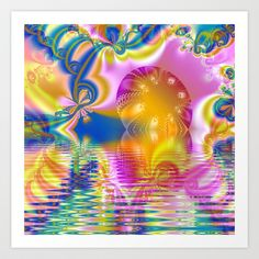 Candy Rainbow Sunset Art Print by GothicToggs - $15.00