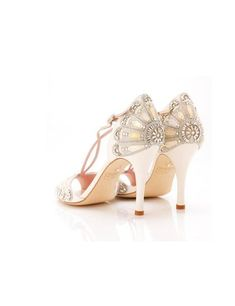 Gorgeous Great Gatsby Wedding Shoes from ELLE UK For more update on this trend visit http://www.arizonaweddings.com/  (Cake decoration inspiration)