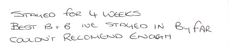 Feedback this morning from a guest who has been staying with us for the past month whilst working in Sunderland.