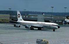 Boeing 707-330B de la aerolínea chilena Lan Chile, en el Aeropuerto de Frankfurt