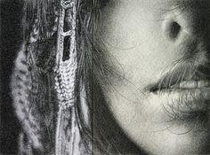 Munarikuway, grafito sobre papel de acuarela y canson, imágen11×15cm, lámina21×27cm, 2009