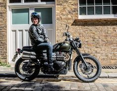 Promo shot for the new Triumph Street Scrambler