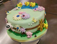 Farm baby shower cake.