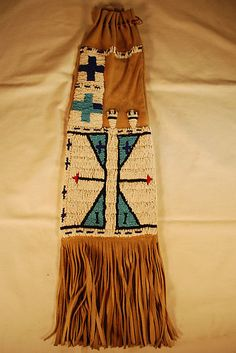 Beaded-Pipe-Bag-Sioux-design-lazy-stitch-beadwork-hand-made-reproduction