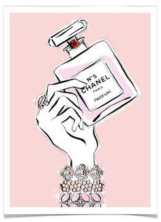 ♥ Chanel by Australian Illustrator, Megan Hess Coco Chanel, Chanel No 5, Chanel Paris, Megan Hess Illustration, Illustration Mode, Kerrie Hess, Parfum Chanel, Fashion Sketches, Fashion Illustrations