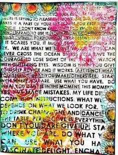 StencilGirl Talk: Art Journal Page & Mini Quotes Album!
