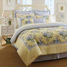 lit pour déco anglaise avec motif floral