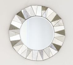 Over Fireplace - Faceted Antiqued Mirror   Pottery Barn