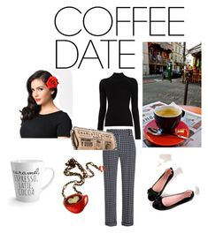 I like you a latte by bluetadpole on Polyvore featuring polyvore moda style Haider Ackermann Charlotte Olympia fashion clothing CoffeeDate