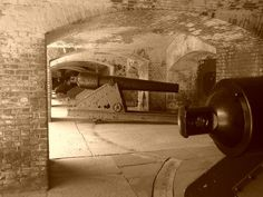 Gun batteries at Fort Sumter, SC.