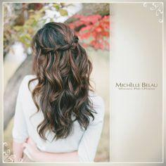 Un peinado fácil y lindo para un compromiso.