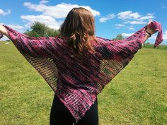 It's summer! And with summer comes breezy, lazy, sunny, happy days! So I designed a pattern to fit that carefree and lighthearted state-of-mind we all find ourselves drifting into during hot weather. This shawl is big, loose, lacy, and lazy; as easy to knit as it is to wear. It looks best in one skein of pretty indie dyed fingering yarn, and best of all: it's completely reversible! Now, grab your lemonade, turn up your favorite summer music, and recline on that porch swing, babe. Let's get…