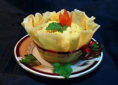 How to DIY Edible Cheese Salad Bowls   www.FabArtDIY.com LIKE Us on Facebook ==> https://www.facebook.com/FabArtDIY