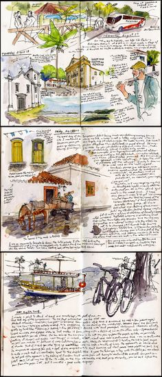 Flashback to Paraty By Gabi Campanario in Paraty, Brazil    http://www.urbansketchers.org/2015/01/flashback-to-paraty.html?m=1