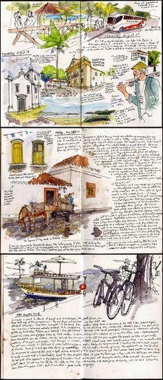 Flashback to Paraty By Gabi Campanario in Paraty, Brazil    http://www.urbansketchers.org/2015/01/flashback-to-paraty.html?m=1