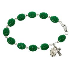 Our Irish rosary bracelet is a perfect gift for andy faithful Irish woman. Our Irish rosary bracelet is a wonderful keep sake that can be passed on for generations. It is a wonderful reflection of rich Celtic heritage and spiritualism. Our Irish rosary br Irish Catholic, Irish Jewelry, Rosary Bracelet, Irish Celtic, Religious Gifts, Gold Labels, Claddagh, Jewelry Companies, Rhinestone Necklace