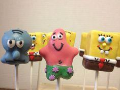 Sponge bob cake pops #timelesstreasure