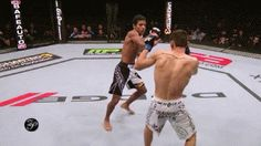 Bruce Leeroy with a double kick technique, more animated gifs in Sherdog thread.