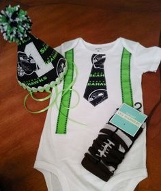 Seahawks Smash cake outfit by littlepeepsandthings on Etsy