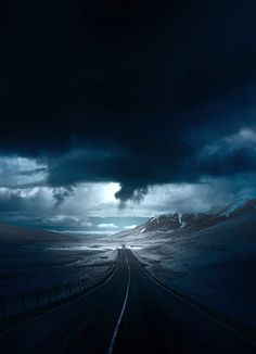 Photographer Andy Lee takes haunting pictures of roads around the world. Beautiful Roads, Beautiful Places, Landscape Photography, Nature Photography, Storm Photography, Winding Road, Foto Art, Nature Photos, Airplane View