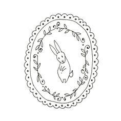 Hand Embroidery Pattern Bunny Rabbit por teenytinyhappythings, $2,00