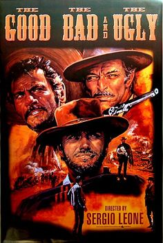 A great movie poster from the Sergio Leone Spaghetti Western The Good, the Bad, and the Ugly! A Clint Eastwood classic. Need Poster Mounts. Clint Eastwood, Eastwood Movies, Classic Movie Posters, Movie Poster Art, Classic Films, Old Movies, Vintage Movies, Great Movies, Western Film